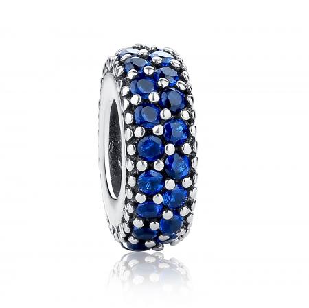 Charm argint 925 cu zirconii albastre - Be Elegant PST0029