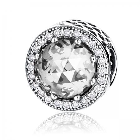 Charm argint 925 cu zirconii albe - Be Elegant PST0038