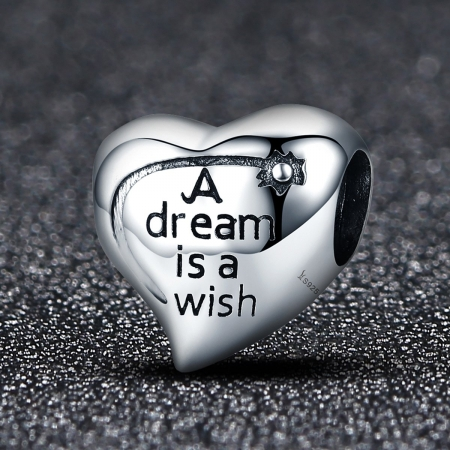 Charm argint 925 inimioara A Dream is a Wish - Be in Love PST01081