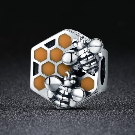 Charm argint 925 cu fagure si albinute - Be Nature PST01141