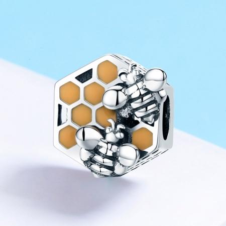 Charm argint 925 cu fagure si albinute - Be Nature PST01142