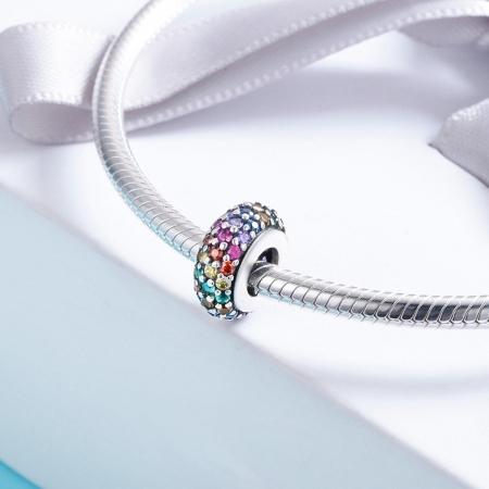 Charm argint 925 cu zirconii multicolore - Be Elegant PST01183