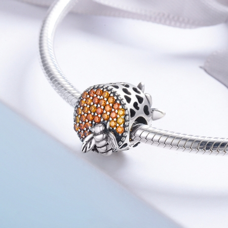Charm argint 925 cu fagure si albinuta - Be Nature PST01303