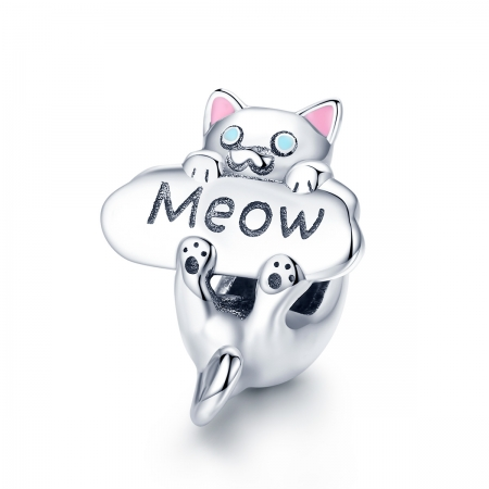 Charm argint 925 cu pisicuta Meow - Be Nature PST0147