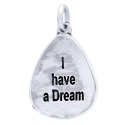 Pandant argint 925 cu doua fete I have a Dream si all things are possible PSX06011