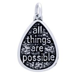 Pandant argint 925 cu doua fete I have a Dream si all things are possible PSX0601