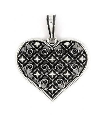 Pandant argint 925 in forma de inimioara [1]