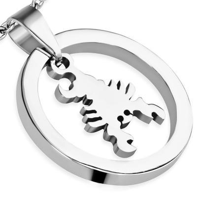 Pandant otel inox cu scorpion