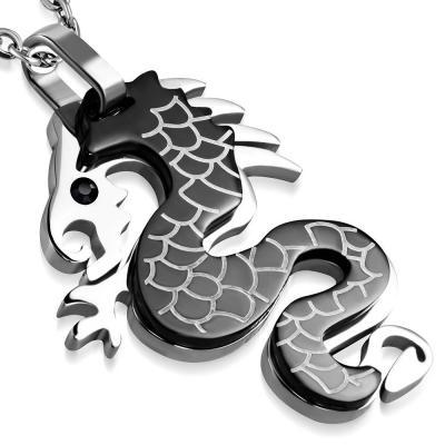 Pandant otel inox dragon