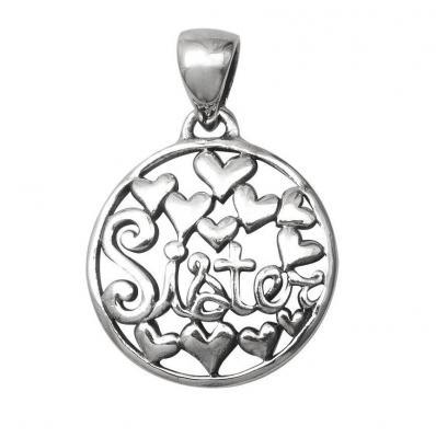 Pandantiv argint 925 SORA SISTER cu inimioare1