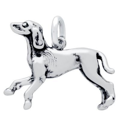 Pandantiv argint 925 caine coonhound1