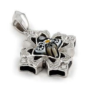 Pandantiv argint 925 cu Sticla de Murano1