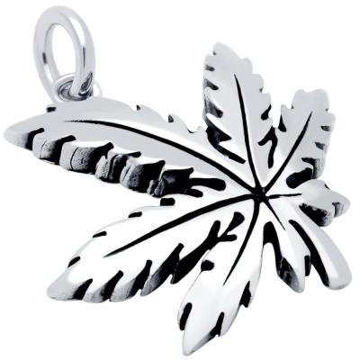 Pandantiv argint 925 frunza de marijuana