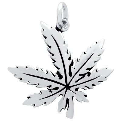 Pandantiv argint 925 frunza de marijuana1