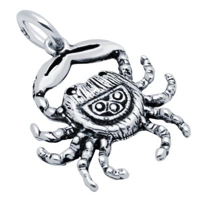 Pandantiv argint 925 in forma de crab0