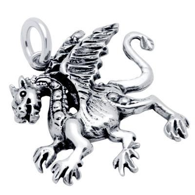 Pandantiv argint 925 in forma de dragon0