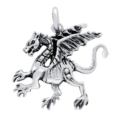 Pandantiv argint 925 in forma de dragon1