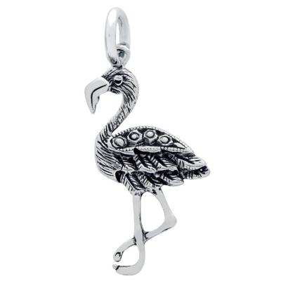 Pandantiv argint 925 in forma de pasare flamingo0