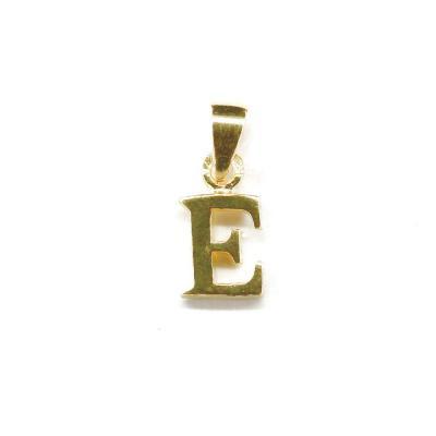 Pandantiv argint 925 placat cu aur litera E0