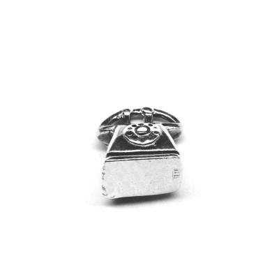 Pandantiv argint 925 telefon fix pentru bratara tip charm0