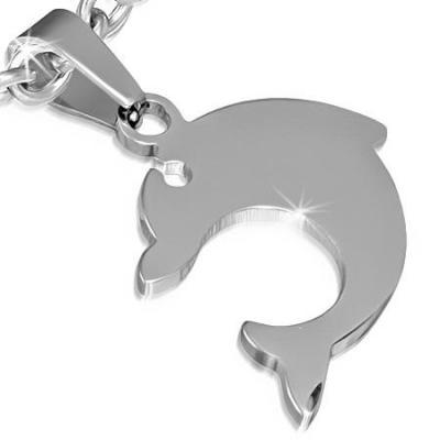 Pandantiv delfin din otel inox