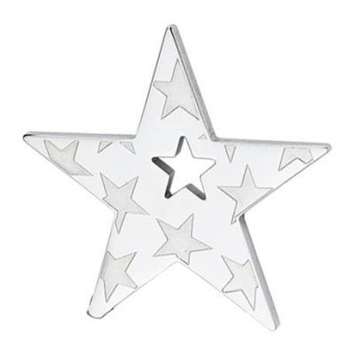 Pandantiv otel stea decorata cu stelute
