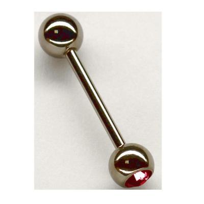 Piercing titan pentru buric cu zirconiu rosu0