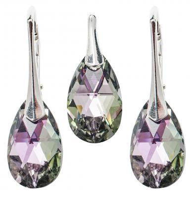 Set argint 925 cu swarovski elements 16 mm Vitrail Light