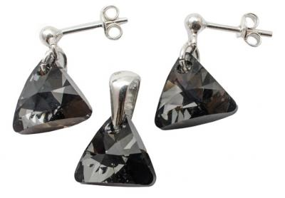 Set argint 925 cu swarovski elements Silver Night