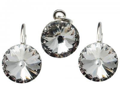 Set argint 925 cu swarovski elements Crystal Clear