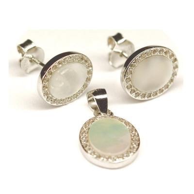 Set argint 925 elegant cu sidef si zirconii0
