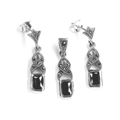 Set elegant din argint 925 cu marcasite0