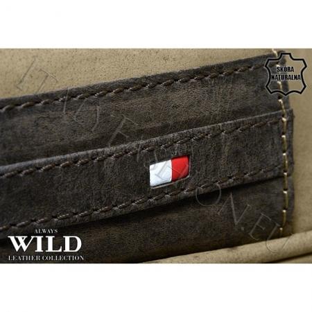 Borseta piele naturala Wild BOR03 Maron6
