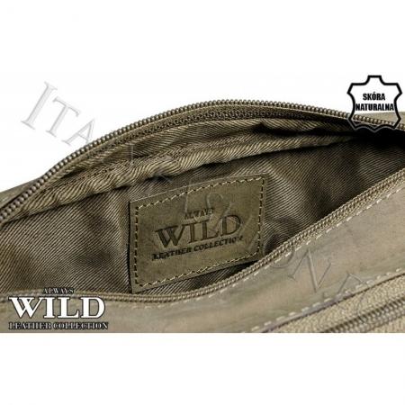 Borseta piele naturala Wild BOR03 Maron5