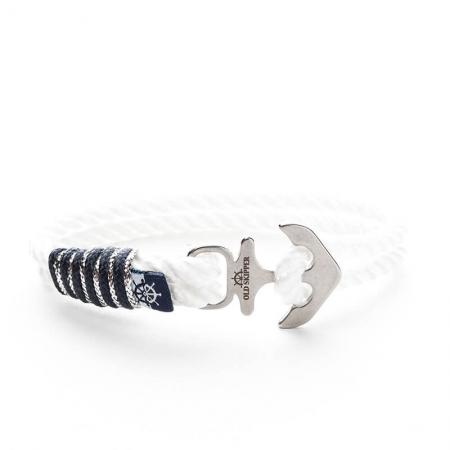 Brățară frânghie nautică BLANKA - 20 cm - Ancoră