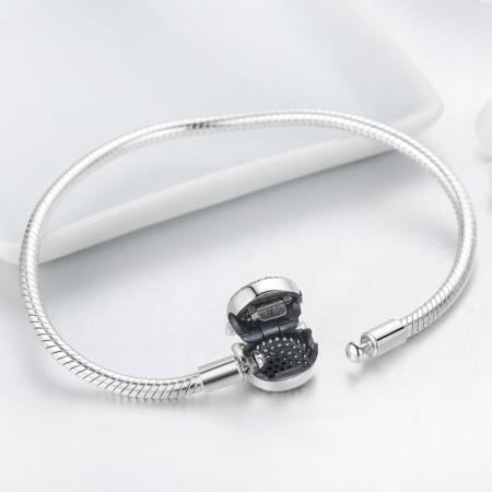Bratara argint 925 cu cap de pisicuta si zirconii albe - Be Nature  BST00285