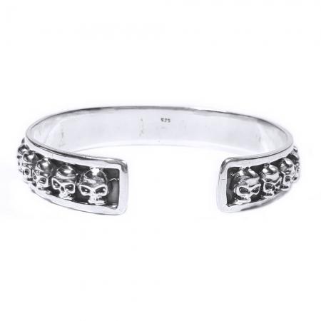 Bratara argint 925 cu cranii, Vanitas1