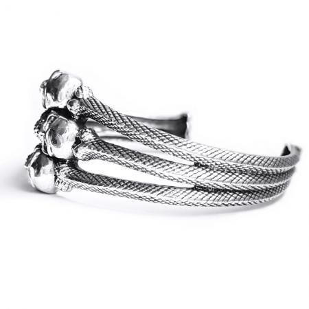 Bratara argint 925 cu cranii1