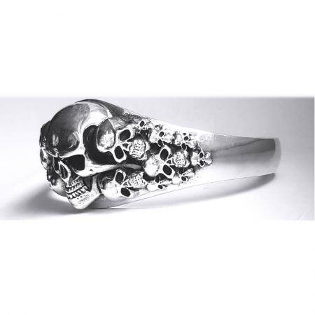 Bratara argint 925 cu cranii2