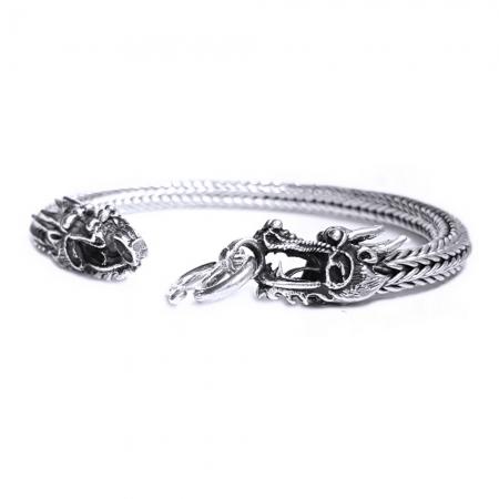 Bratara argint 925 cu dragon, Tiamat