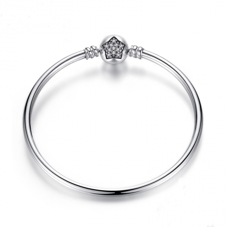 Bratara argint 925 cu floare si zirconii albe - Be Elegant BST0009