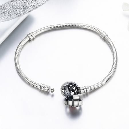 Bratara argint 925 cu floricele si zirconii albe - Be Nature BST00224