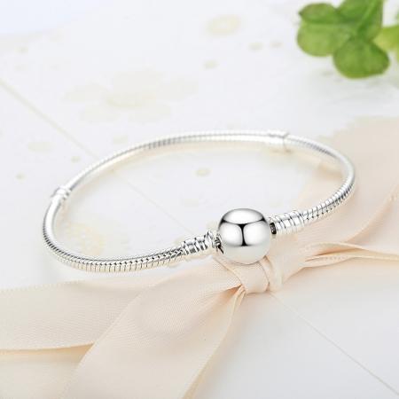 Bratara argint 925 cu inimioara si zirconii albe - Be Elegant BST00182