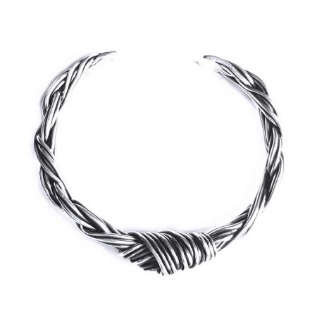 Bratara argint 925 cu nod, Enyd2