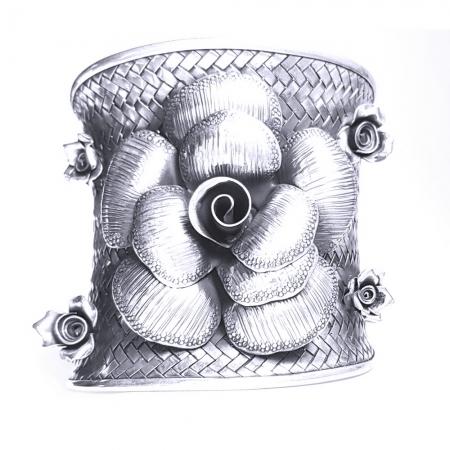 Bratara argint 925 cu trandafiri, Eva