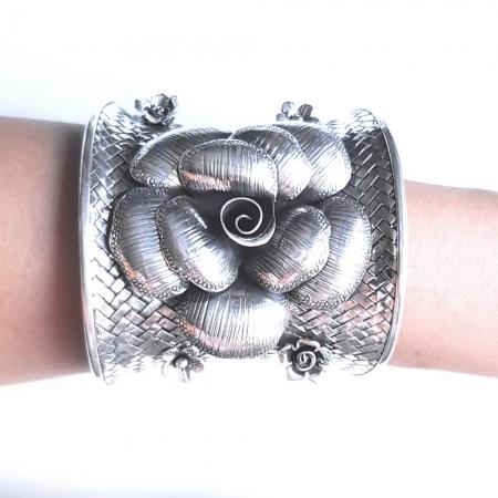 Bratara argint 925 cu trandafiri, Eva2