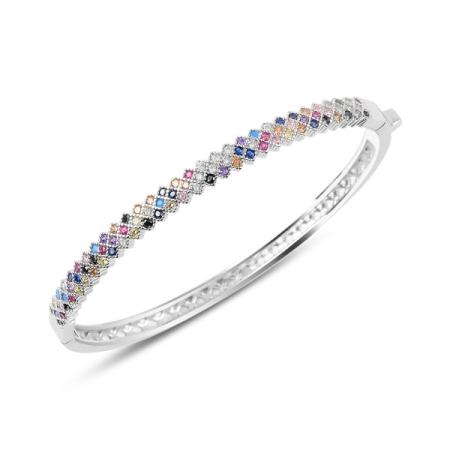 Bratara argint 925 cu zirconii multicolore - Be Elegant BTU0062