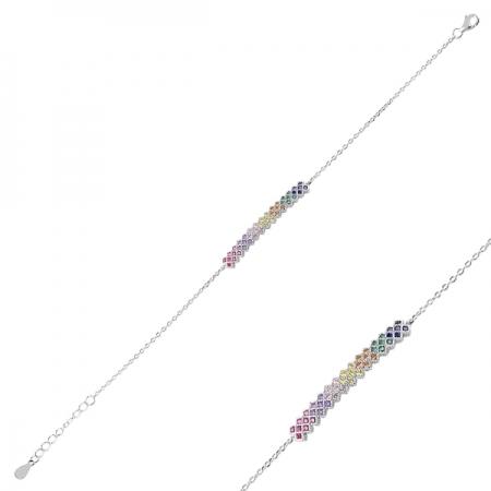 Bratara argint 925 cu zirconii multicolore - Be Elegant BTU0098