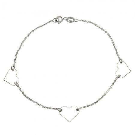 Bratara argint 925 cu trei inimioare BSX0263