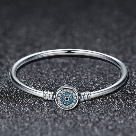 Bratara argint 925 floare albastra cu zirconii - Be Nature BST00242